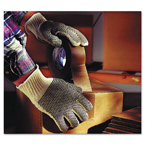 AnsellPro MultiKnit Dotted Lightweight Gloves, Large, Natural, 12 Pairs (ANS761019CT)