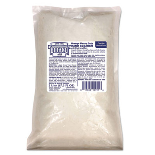 Boraxo Orange Heavy Duty Hand Cleaner  2 Liter Refill Bag  4 CT (DIA10991CT)