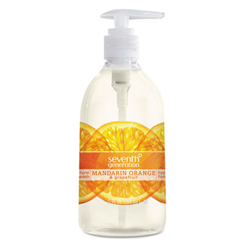 Seventh Generation Natural Hand Wash  Mandarin Orange   Grapefruit  12 oz Pump Bottle  8 Carton (SEV22925CT)