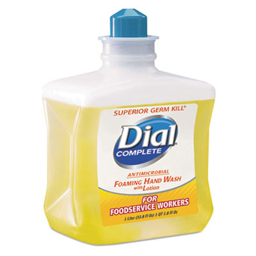 Dial Professional Antimicrobial Foaming Hand Soap  For Foodservice Workers  1 Liter  4 Carton (DIA00034)