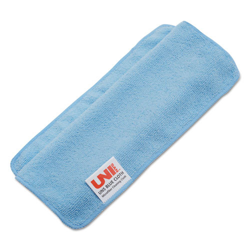 Boardwalk Lightweight Microfiber Cleaning Cloths  Blue 16 x 16  24 Pack (BWK16BLUCLOTH)