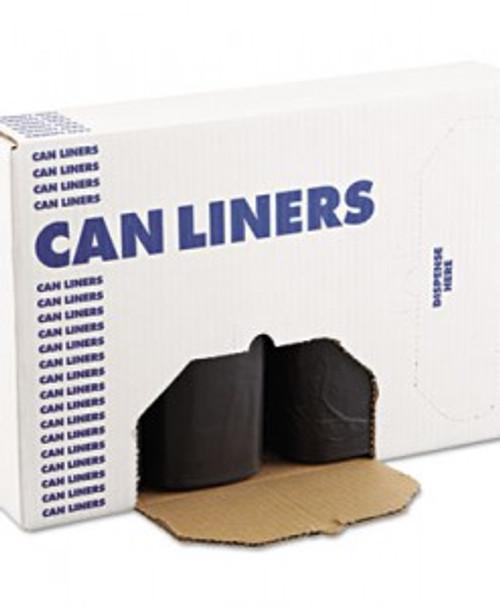 Boardwalk High-Density Can Liners, 43 x 47, 56-Gal, 14 Micron, Black, 125/RL 8 RL/CT (BWK434717BLK)