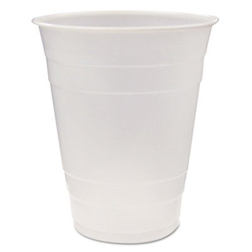 Pactiv Translucent Plastic Cups  16 oz  Clear  80 Pack  12 Packs Carton (PCTYE160)