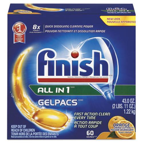 FINISH Dish Detergent Gelpacs, Orange Scent, 60/BX, 4 BX/CT (RAC81181CT)