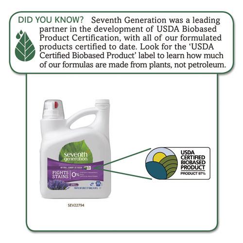 Seventh Generation Natural Liquid Laundry Detergent  Lavender Blue Eucalyptus  99 loads 150 oz 4 CT (SEV22794CT)