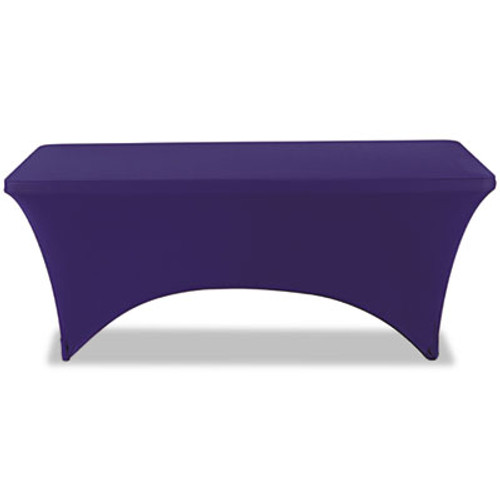 "Iceberg Stretch-Fabric Table Cover, Polyester/Spandex, 30"" x 72"", Blue (ICE16526)"