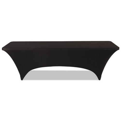 Iceberg Stretch-Fabric Table Cover  Polyester Spandex  30  x 96   Black (ICE16531)