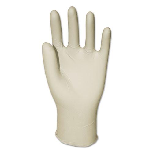 Boardwalk General-Purpose Latex Gloves  Natural  Medium  Powder-Free  4 4 mil  1000 Ctn (BWK345MCT)