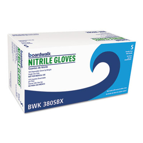 Boardwalk Disposable General-Purpose Nitrile Gloves, Small, Blue, 4 mil, 1000/Carton (BWK380SCT)