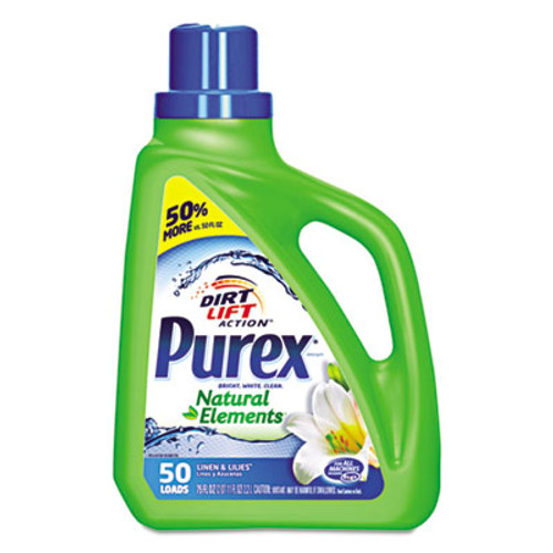 Purex Ultra Natural Elements HE Liquid Detergent, Linen & Lilies, 75 oz Bottle (DIA01120EA)
