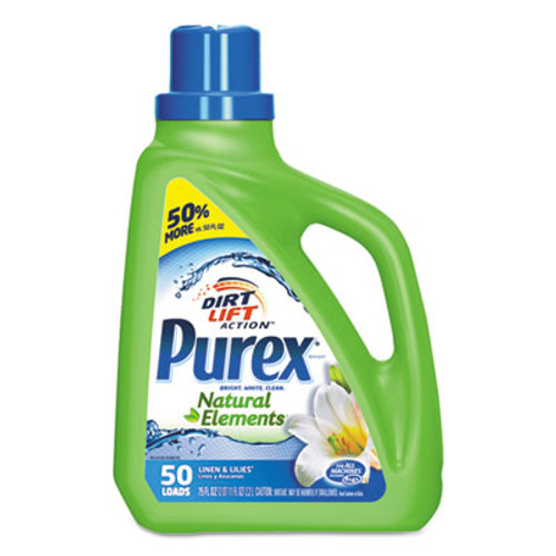 Purex Ultra Natural Elements HE Liquid Detergent  Linen   Lilies  75oz Bottle 6 Carton (DIA01120CT)