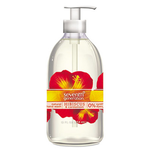 Seventh Generation Natural Hand Wash, Hibiscus & Cardamom, 12 oz Pump Bottle (SEV22945EA)