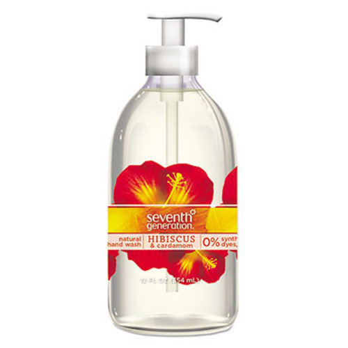 Seventh Generation Natural Hand Wash, Hibiscus & Cardamom, 12 oz Pump Bottle, 8/Carton (SEV22945)