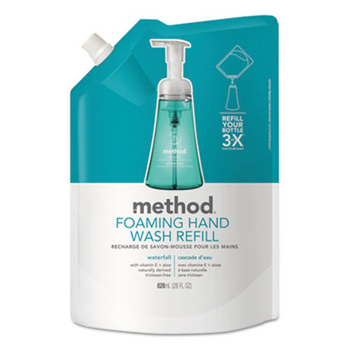 Method Foaming Hand Wash Refill, Waterfall, 28 oz Pouch (MTH01366EA)