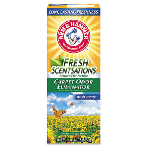 Arm & Hammer Fresh Scentsations Carpet Odor Eliminator  Fresh Breeze  30 oz Box  6 Carton (CDC3320011536)