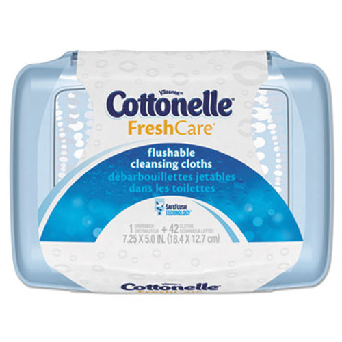Cottonelle Fresh Care Flushable Cleansing Cloths  White  3 75 x 5 5  42 Pack  8 Packs CT (KCC36734CT)