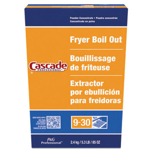 Cascade Professional Fryer Boil Out  Concentrated Powder  85 oz Box  6 Carton (PGC59097)
