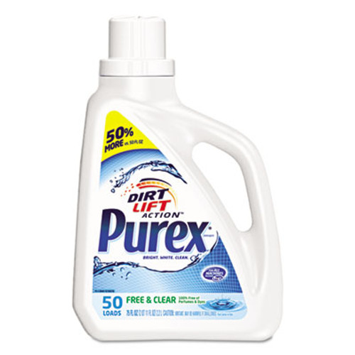 Purex Free and Clear Liquid Laundry Detergent  Unscented  75 oz Bottle (DIA2420006040EA)