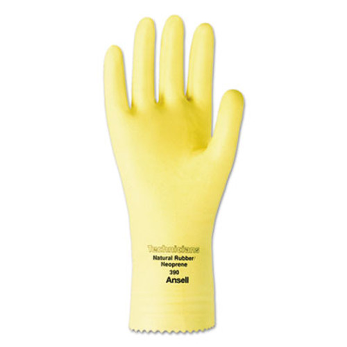 AnsellPro Technicians Latex/Neoprene Blend Gloves, Size 8, Natural, 1 Dozen (ANS39008)