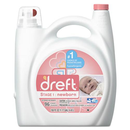 Dreft Ultra Laundry Detergent  Liquid  Baby Powder Scent  150 oz Bottle  4 Carton (PGC80377CT)
