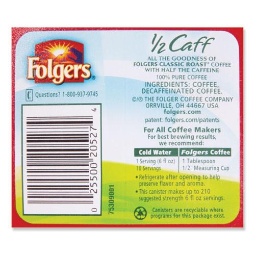 Folgers Coffee  Half Caff  25 4 oz Canister (FOL20527)