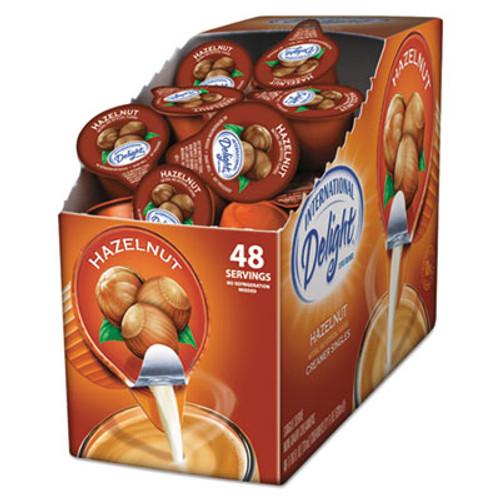 International Delight Flavored Liquid Non-Dairy Coffee Creamer  Hazelnut  0 4375 oz Cup  48 Box (ITD02283)