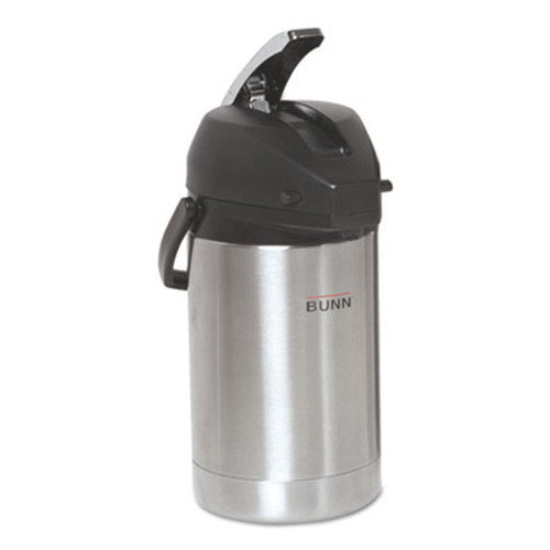 BUNN 2 5 Liter Lever Action Airpot  Stainless Steel (BUNAIRPOT25)