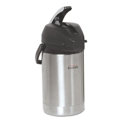 BUNN 2 5 Liter Lever Action Airpot  Stainless Steel (BUNAIRPOT25)