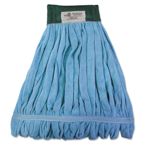 Boardwalk Microfiber Looped-End Wet Mop Heads  Medium  Blue  12 Carton  12 Carton (BWKMWTMBCT)