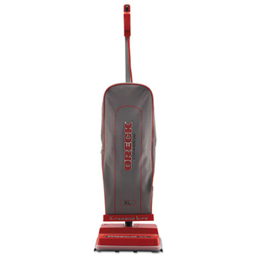 Oreck Commercial U2000RB-1 Commercial Upright Vacuum  120 V  Red Gray  12 1 2 x 9 1 4 x 47 3 4 (ORKU2000RB1)