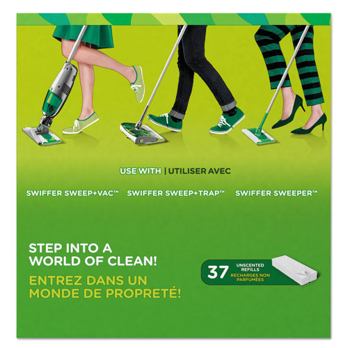 Swiffer Dry Refill Cloths  White  10 2 5  x 8   37 Box  4 Box Carton (PGC82822CT)