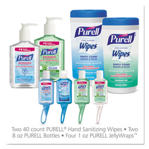 PURELL On the Go Hand Sanitizer Kit, Assorted, 8 Pieces, 6 Kit/Carton (GOJ9120K1EC)