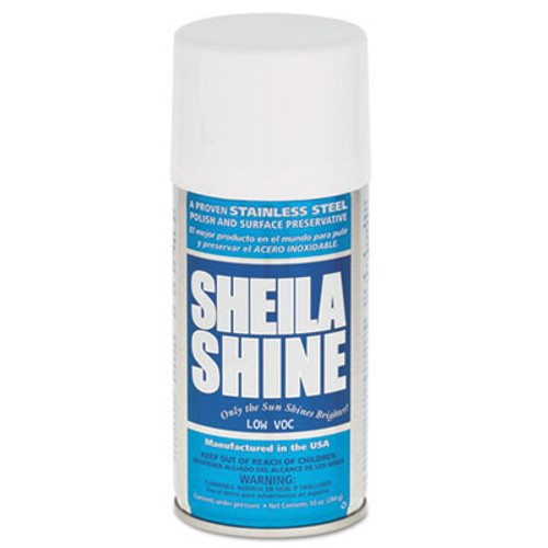 Sheila Shine Low Voc Stainless Steel Cleaner   Polish  10 oz Can  12 Carton (SSISSCA10)
