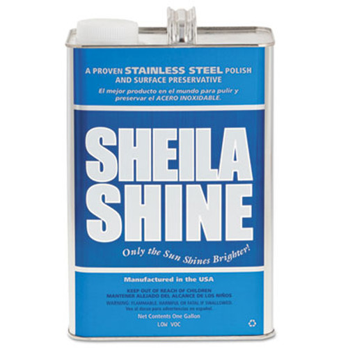 Sheila Shine Stainless Steel Cleaner   Polish  1 gal Can  4 Carton (SSISSCA128)