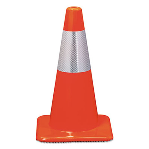 3M Reflective Safety Cone  11 1 2 x 11 1 2 x 18  Orange (MMM90128R)