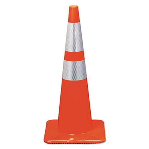 3M Reflective Safety Cone  12 3 4 x 12 3 4 x 28  Orange (MMM90129R)