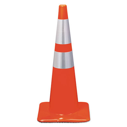 3M Reflective Safety Cone  12 3 4 x 12 3 4 x 28  Orange (MMM90129R)