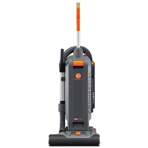 "Hoover Commercial HushTone Vacuum Cleaner with Intellibelt, 15"", Orange/Gray (HVRCH54115)"