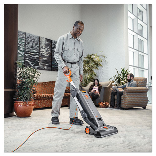 Hoover Commercial HushTone Vacuum Cleaner with Intellibelt  15   Orange Gray (HVRCH54115)