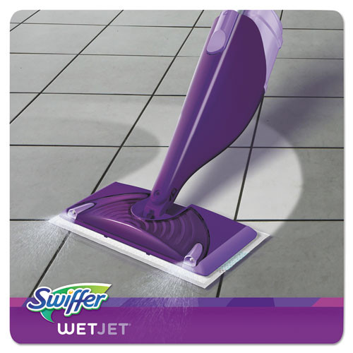 Swiffer WetJet Mop Starter Kit  46  Handle  Silver Purple (PGC92811KT)