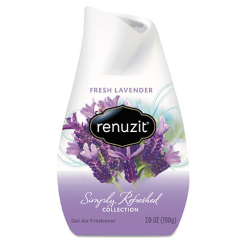 Renuzit Adjustables Air Freshener  Lovely Lavender  Solid  7 oz  12 Carton (DIA35001CT)