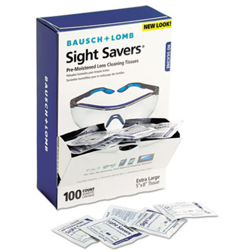 Bausch & Lomb Sight Savers Premoistened Lens Cleaning Tissues  100 Box  10 Boxes Carton (BAL8574GMCT)