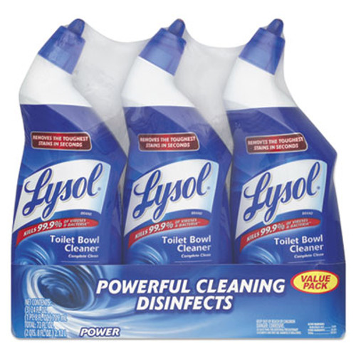 LYSOL Brand Disinfectant Toilet Bowl Cleaner, Wintergreen Scent, 24 oz Bottle, 3/Pack (RAC90704PK)