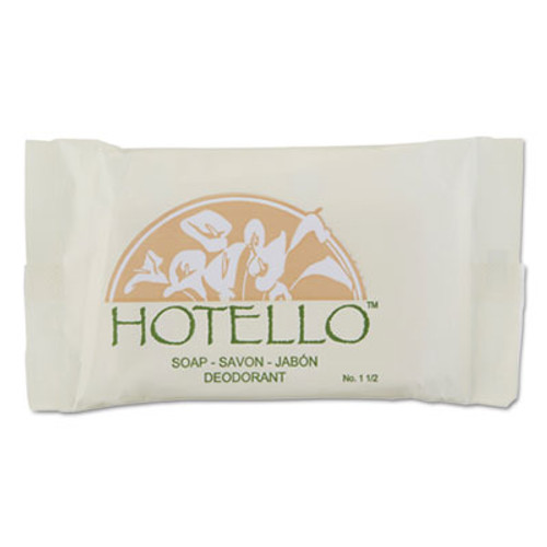Hotello Bar Soap, 1 1/2 oz, Individually Wrapped, 500/Carton (DIA300150A)