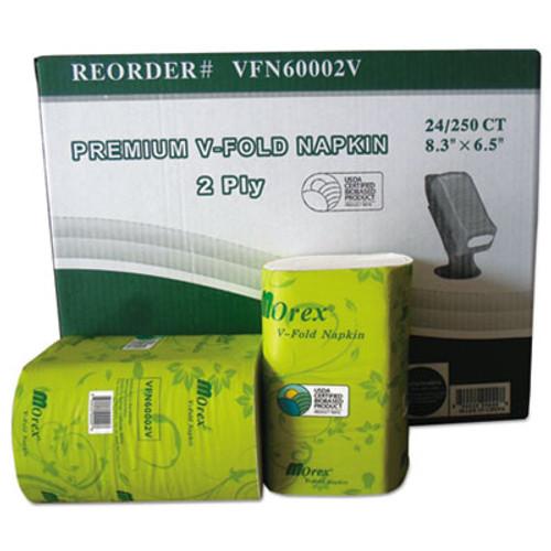 GEN Premium V-Fold Pop-Up Dispenser Napkin  6 5 x 8 3  White  250 Pack  24 Packs Carton (GENVFN60002V)