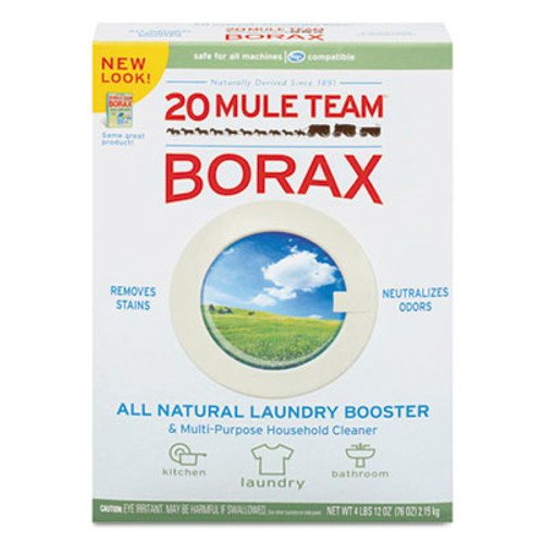 Dial 20 Mule Team Borax Laundry Booster  Powder  4 lb Box  6 Boxes Carton (DIA00201)