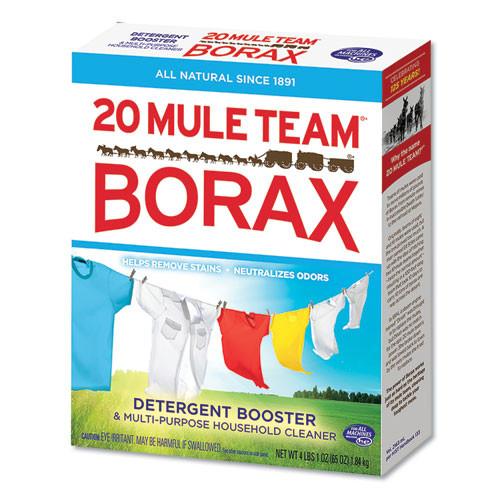 Dial 20 Mule Team Borax Laundry Booster  Powder  4 lb Box  6 Boxes Carton (DIA00201)