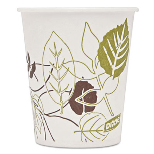 Dixie Pathways Wax Treated Paper Cold Cups, 5 oz, White/Green/Brown, 50/Pack (DXE58WSPK)