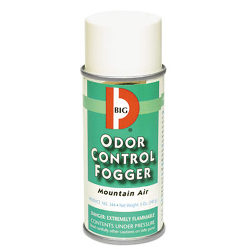 Big D Industries Odor Control Fogger  Mountain Air Scent  5 oz Aerosol  12 Carton (BGD344)