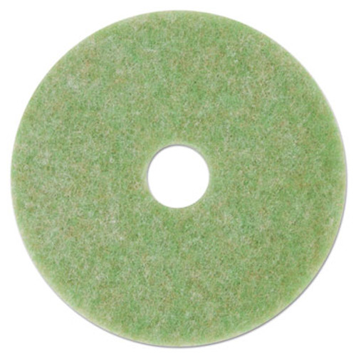3M Low-Speed TopLine Autoscrubber Floor Pads 5000  17  Diameter  Green nge  5 CT (MMM18049)